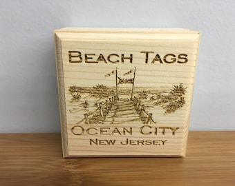 Beach Tag Box (Beach Scene)