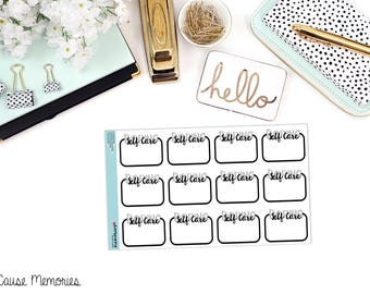BORING SELF CARE Functional Paper Planner Stickers