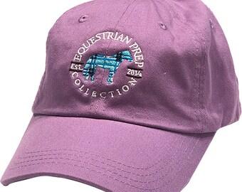 Preppy Plaid Horse Cap
