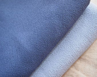 Fabric Japanese chirimen blue gray 112 * 50 cm