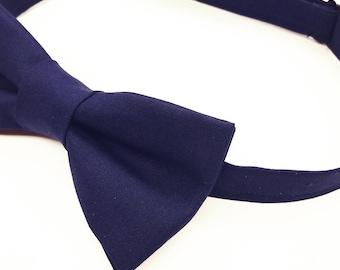 Navy Bow tie, Blue Bow tie, Navy Bowtie, Navy Blue Bowtie, Dark Blue Bowtie, Men's Navy Blue Bow tie, Kid's Navy Blue Bow tie, Pre-tied