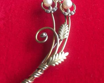 Gold and Pearl 1930's Pin