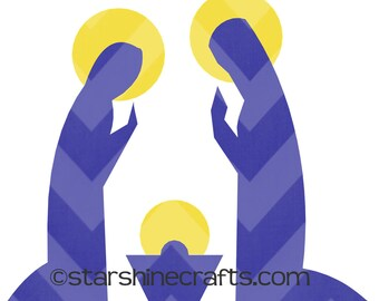 Religious SVG Jesus Mary and Joseph for personal cutting machines instant download