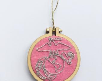 USMC Magnet (USMC ornament, Marine Corps magnet, USMC magnet, Marine Corps ornament)