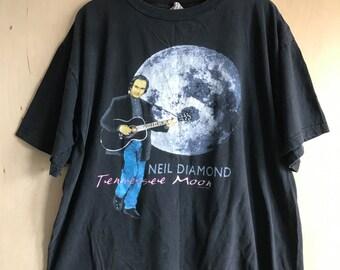 """Neil Diamond """"Tennessee Moon"""" Tour 1996 T-Shirt XL"""