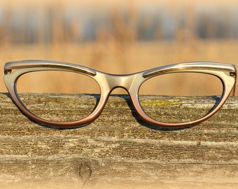 1960s cat eye glasses frame ~ deadstock Eyewear ~ Retro eyeglasses ~ Rockabilly Pin Up style