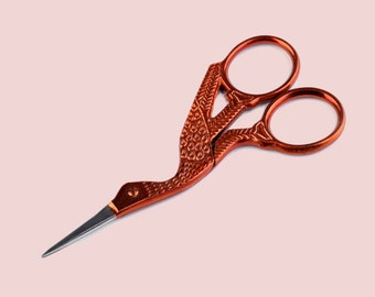"Sewing and embroidery scissors ""Crane orange"""
