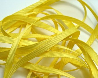 "1/4"" Grosgrain Ribbon -  Canary Yellow - 10 yards"