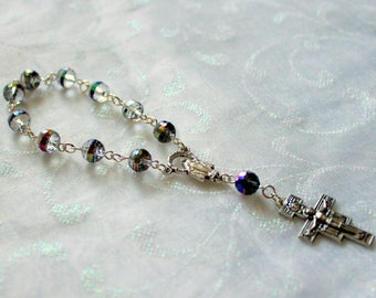 Crystal One Decade Travel Rosary