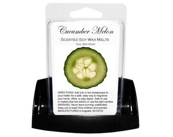 CUCUMBER MELON Soy Melts - Wax Tarts - Soy Tarts - Candle Tarts - Melting Tart - Scented Tart - Tart Melt - Wax Melt - Clamshell - Dye Free