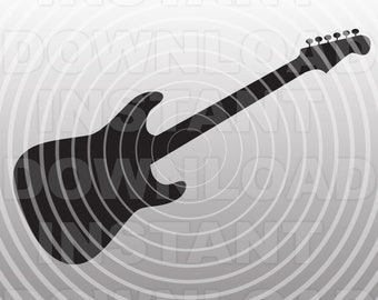 Electric Guitar SVG File Cutting Template-Clip Art for Commercial &Personal Use-Vector Art-Cricut,Cameo,Sizzix,Pazzles,Silhouette
