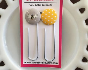 Bumble Bee Button Bookmarks