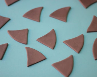 Fondant Cupcake Toppers - Shark Fins Fondant Toppers - Perfect for Cupcakes, Cookies and Other Edibles