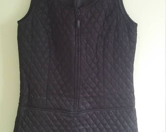 90s vintage DKNY black quilted mini dress
