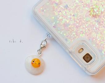 Egg phone charm - antidust phone plug