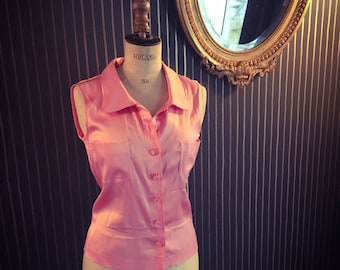Chanel pink tank top