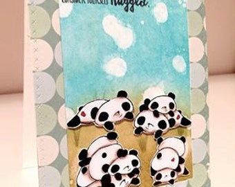 INSTANT DOWNLOAD Kawaii Panda Bears Digital Stamp Set - Panda Pack Image No.316 by Lizzy Love