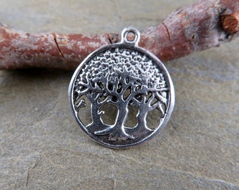 Charms - Sterling Silver Trees Charm -Findings -Jewelry Making Supplies - Bohemian Findings -Sterling Silver Charms - Artisan Findings