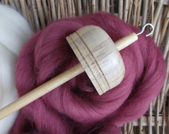 Drop Spindles and Spindle kits Mulberry and Cream