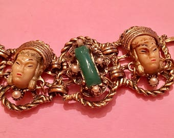 Vintage selro asian princess heavy bracelet