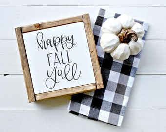 Happy Fall Y'all - Hand Lettered SVG