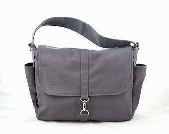 Mother s Day Big Sale VESTER // Grey / Lined with Beige / 101 // Ship in 3 days // Messenger / Diaper bag / Shoulder bag / Tote / Canvas Bag