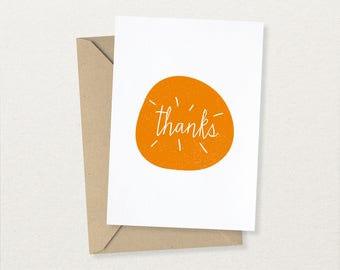 Thanks - Thank You Card - Free UK Delivery