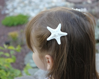 Starfish Hair Clips / Beach wedding / Flower girl / Bridal Hair accessories