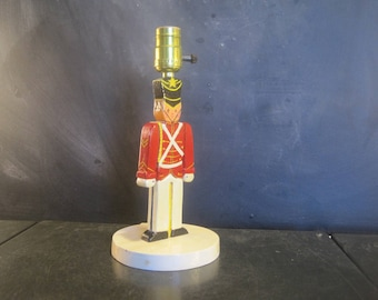 Vintage Handmade Small Toy Soldier Lamp