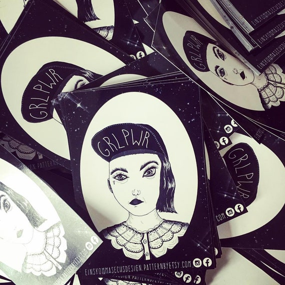 "Sticker ""GRLPWR"" 15 pieces"