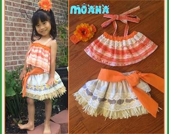 Moana Costume, Moana Birthday,   Moana dress, Moana Hawaiian Princess, Moana outfit