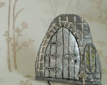 Silver Castle Fairy Door