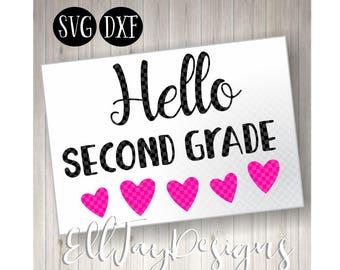 Hello Second grade svg, second grade svg, 2nd grade svg, second grade, 2nd grade, school svg, back to school svg, teacher svg, teacher, svg