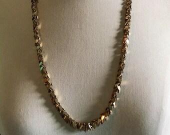Vintage Gold Leaf Chain Necklace