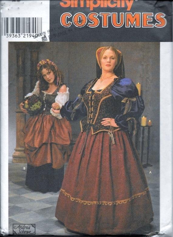 Einfachheit 8249 elisabethanischen Renaissance Mittelalter Kleid ...