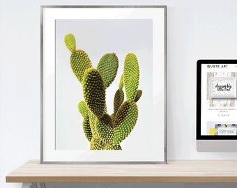 Digital Download Print | Cactus Wall Art Printable| Art scalable to 50x70 cm