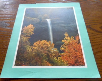 South Silver Creek Falls, 1970 Standard oil posters, Famous places, Landmarks,  advertising collection