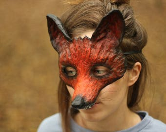 The Dark Fox Mask Handmade Fancy Dress Animal Mask Papier Mache/Paper Mache Halloween Party Mask