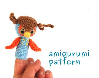 crochet pattern owl, owl finger puppet pattern, amigurumi owl tutorial, make a special gift for toddler, how to crochet owl puppet, owl toy