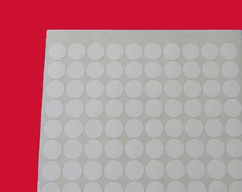 "5 Sheets 3/4"" Round White Labels. 5 Sheets 3/4-Inch Labels. 120 Labels Each Sheet. 5202"