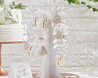 Wooden Wedding Wishing Tree Guest Book Alternative