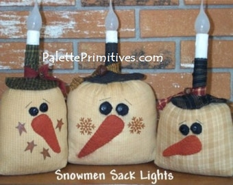 Snowman Sack Lights - Instant Download E-Pattern