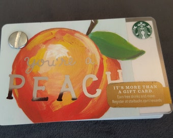 Starbucks Upcycled Refillable Giftcard Notebook - 2015 You're A Peach