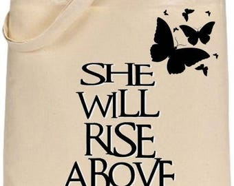 Rise Above -reusable tote