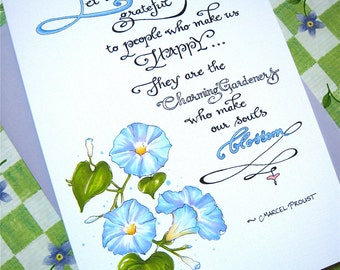 Friendship Card - Gratitude Quote - Thank You Card - Charming Gardeners