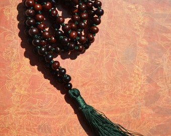 Red Sandalwood Mala, Red Sandalwood Prayer Beads, Mala, Red Sandalwood Beads, Prayer Beads, Sandalwood Mala, 7mm Beads, RSTDG7