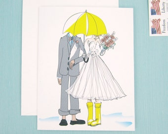 Wedding Shower Card (Blank Inside)