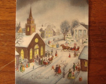 1950s USED Card, Christmas Card, no envelope