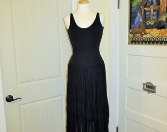 20's style black dress, made in France by JJ Garella, 1990's