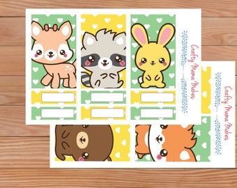 Cute Woodland Creature Kit - Happy Planner - Planner Kit - Stickers